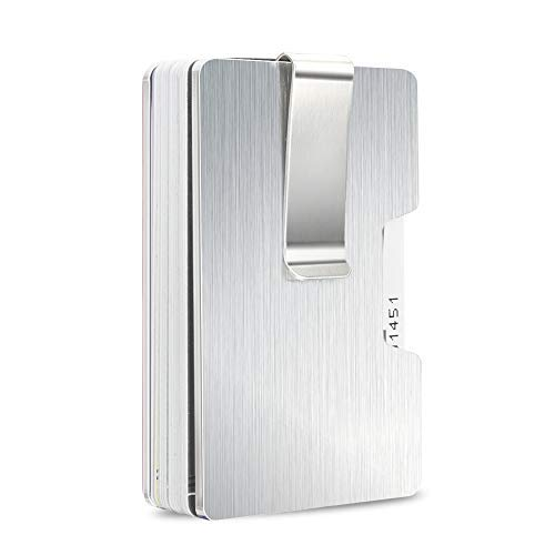 Snagshout money clip aluminium card holder rfid blocking money clip slim aluminium credit card business card holder for women men up to colourmoves
