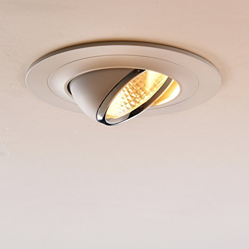 snagshout obsess 05034 4 inch 8w led cob recessed trim light