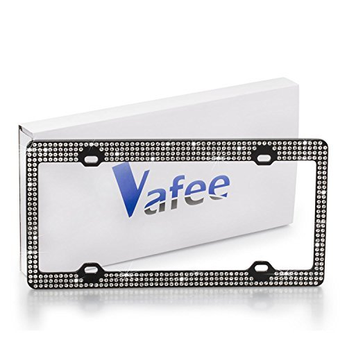 Snagshout | Vafee® 7 Row handmade bling license plate frame
