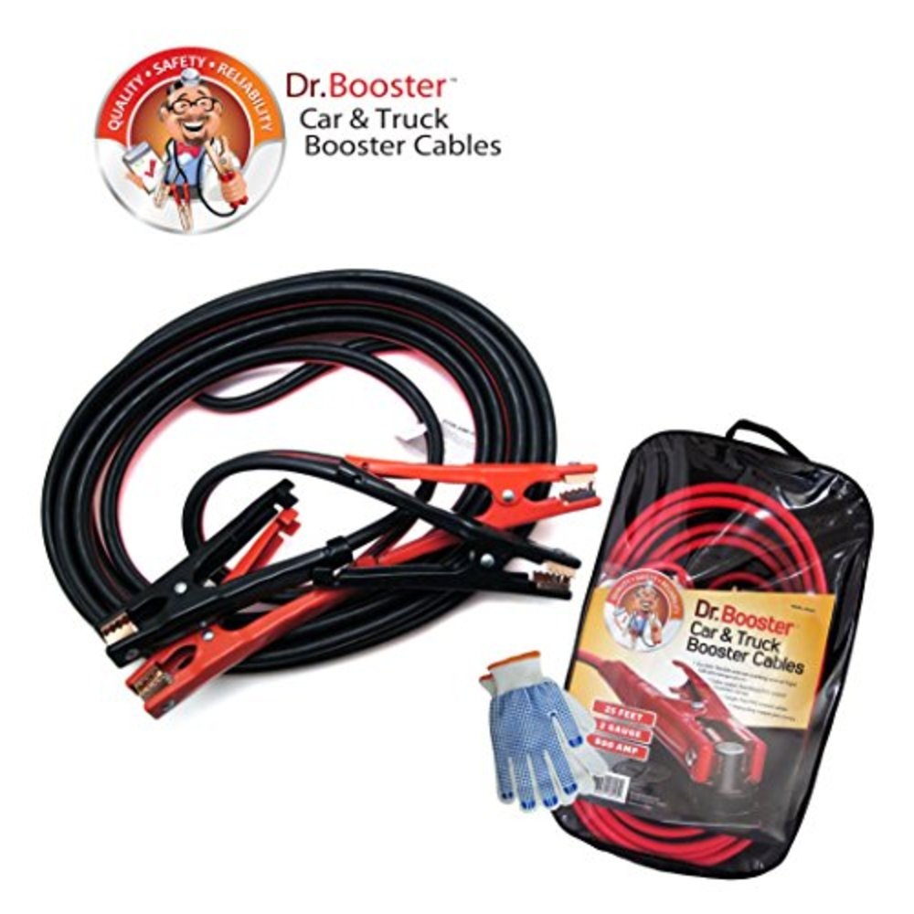 Snagshout   Dr.Booster™ Super Heavy Duty Booster Cables, 2 Gauge, 25 ...