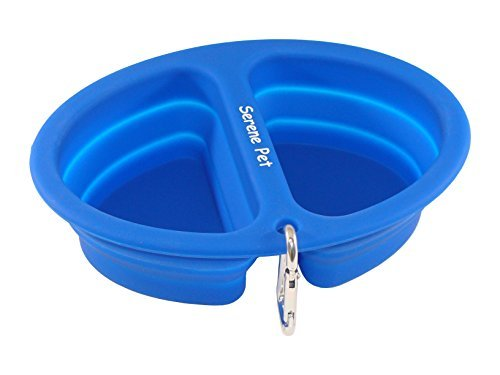 collapsible travel dog bowls by serene pet 2 bowl pack dish for medium and - Dog Bowls
