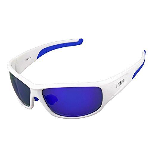 a296ac69653 LINSUN Sports Polarized Sunglasses Driving Glasses for Men Women Flexible  Frame for Cycling Baseball Running