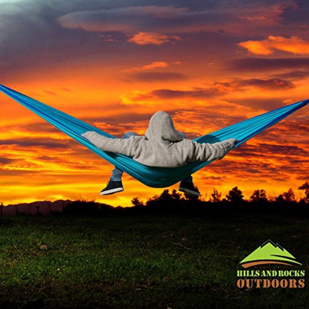 Hills And Rocks Outdoors Portable Camping Hammock   Double Outdoor Nylon Portable  Hammock For Camping,