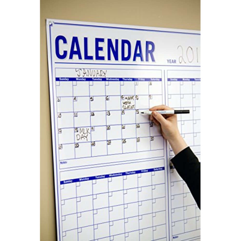 snagshout new annual wall calendar large vertical dry erase
