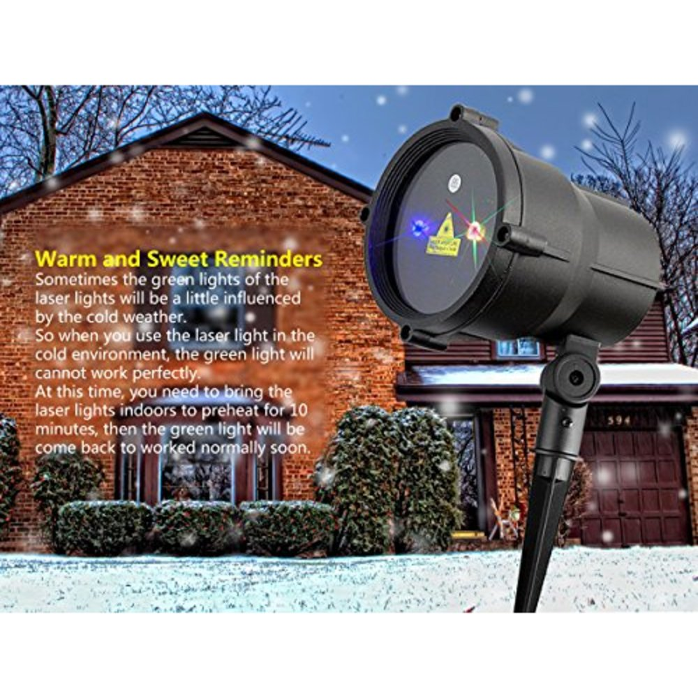 Snagshout almatess garden laser lights outdoor moving rgb almatess garden laser lights outdoor moving rgb waterproof landscape star projector with 19 feet long cable aloadofball Images