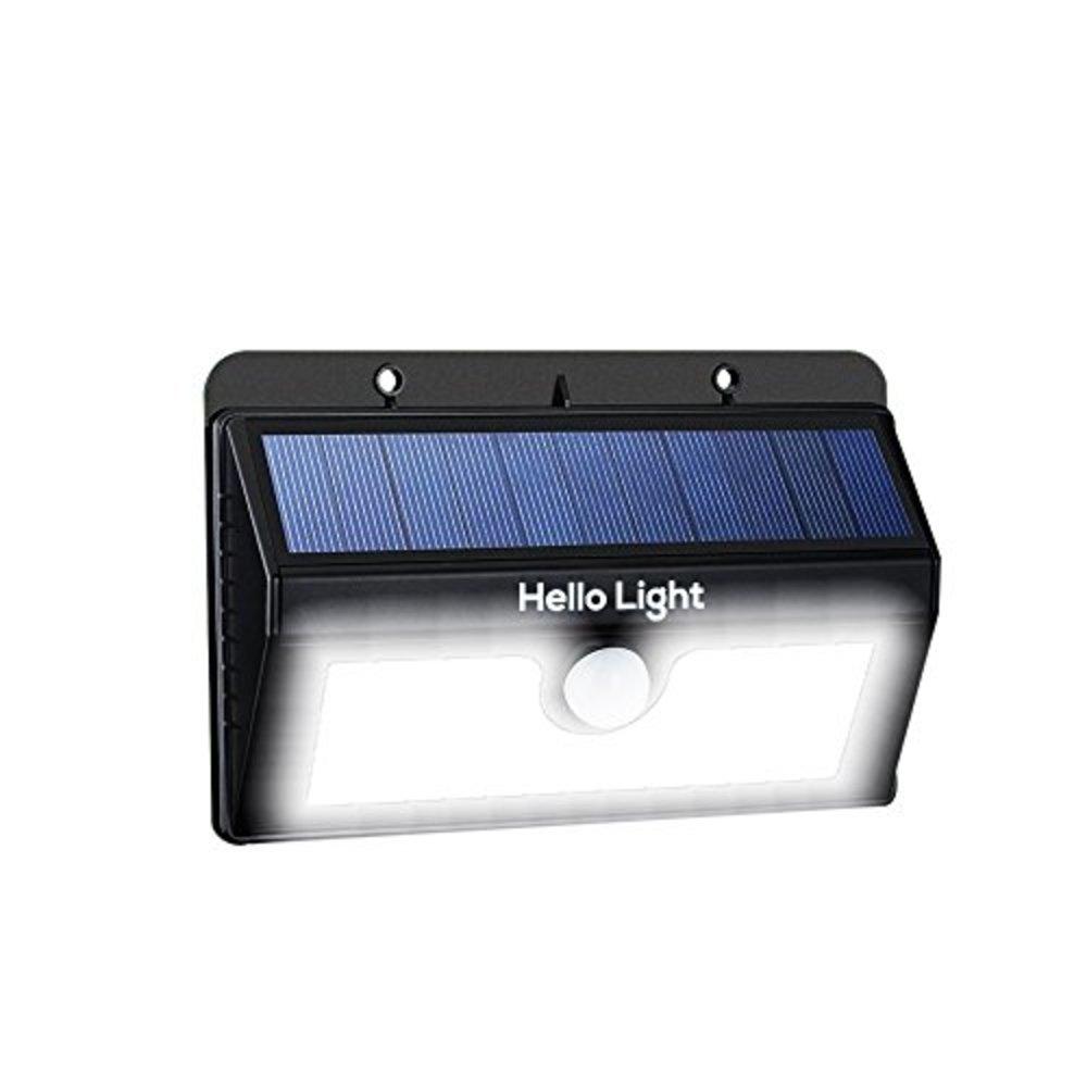 20 led solar motion sensor light set u0026ndash includes ultra bright zoomable tactical led flashlight