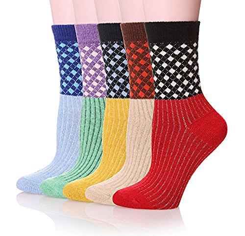 Women Vintage Style Cotton Wool Warm Winter Socks