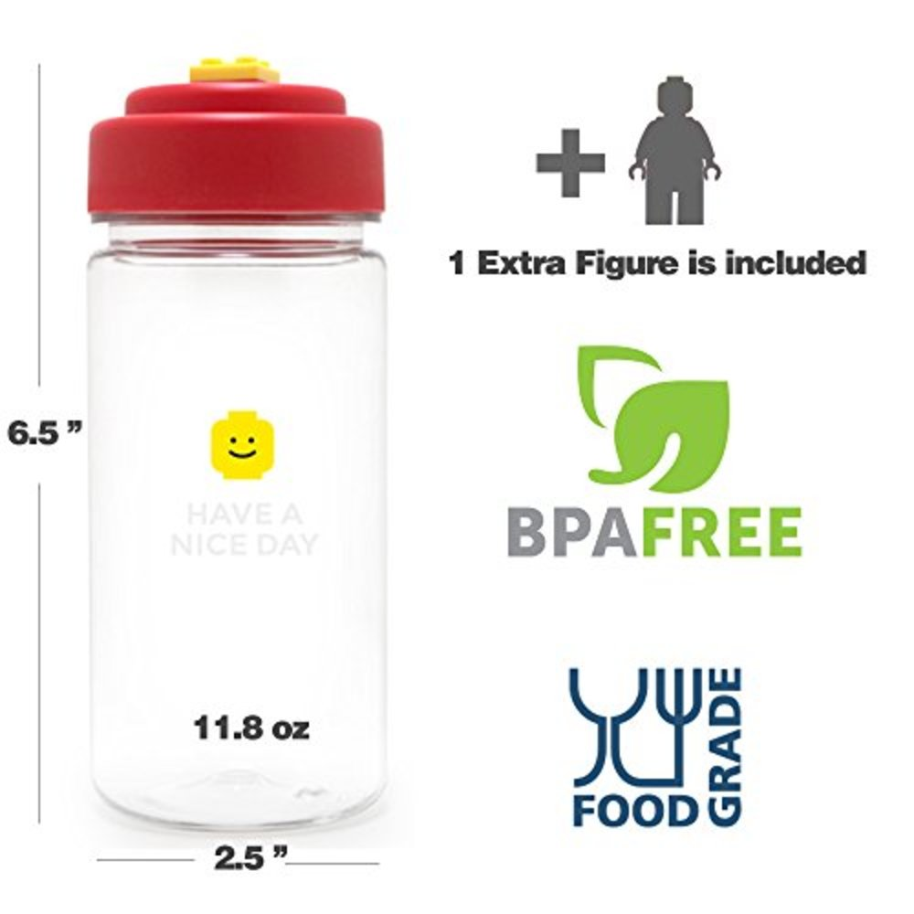 BPA FREE HAON Brick Water Bottle for Children Kids and Adult for Office Sport Travel Picnic and Camping 11.8-Ounce