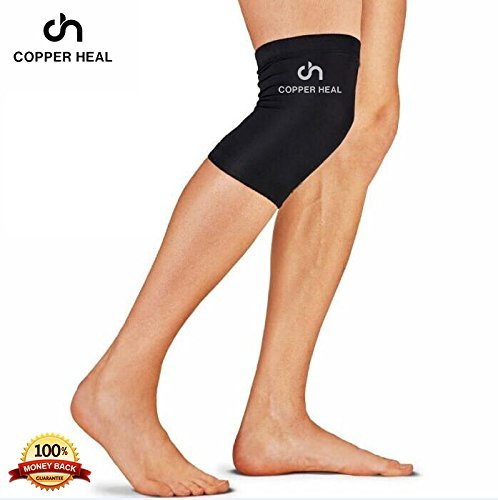 2da8fbf633 COPPER HEAL Knee Compression Sleeve - BEST Medical Recovery Knee Brace  GUARANTEED with Highest Copper Infused